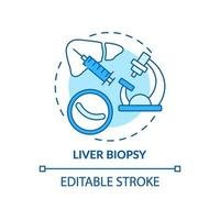 ícone do conceito de biópsia de fígado vetor
