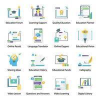 educação e conhecimento vetor