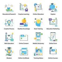 aprendizagem e conhecimento virtual vetor