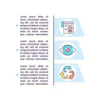 ícones de linha de conceito de conformidade ambiental com texto vetor