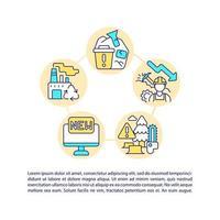 redução do consumo de matérias-primas ícones de linha de conceito com texto vetor