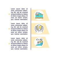 prevenção da poluição ambiental ícones de linha de conceito com texto vetor