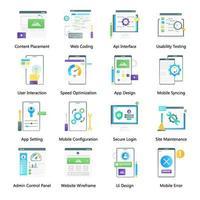 web design e edição vetor