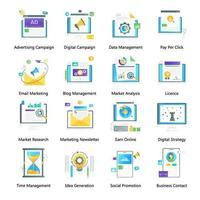 digital e marketing vetor