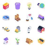 ecologia e elemento de reciclagem vetor