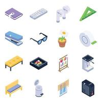 material de escritório e eletrônicos vetor
