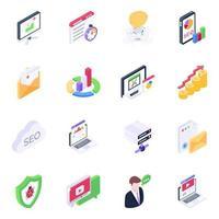 elementos de desenvolvimento digital vetor