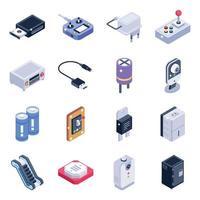 elementos de dispositivos elétricos vetor