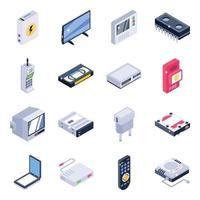 elementos de equipamento elétrico vetor