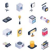 equipamentos e elementos eletrônicos vetor
