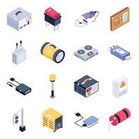 eletrônica e hardware vetor