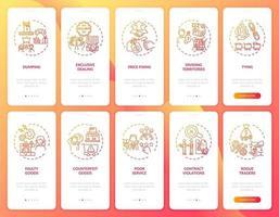 atividades empreendedoras integrando a tela da página do aplicativo móvel com o conjunto de conceitos vetor