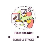 ícone do conceito de dieta rica em fibras vetor