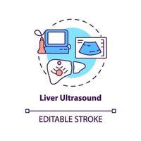 ícone do conceito de ultrassom de fígado vetor