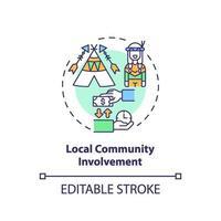 ícone do conceito de envolvimento da comunidade local vetor