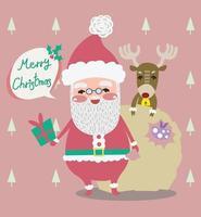 desenho de vetor de natal santa