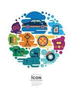 ícone de design de mecânico automotivo vetor