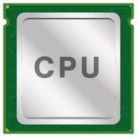 cpu ou vetor de chip de unidade central de processamento