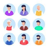 coleção de avatar de pessoas em diferentes idades vetor