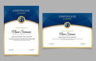 design de modelo de certificado elegante vetor