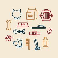 ícones de estimação grooming vetor
