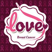 Projeto de vetor de conscientização do câncer de mama