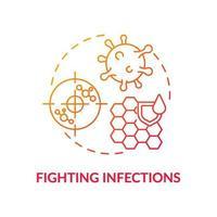 ícone do conceito de luta contra infecções vetor
