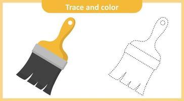 pincel de traço e cor vetor