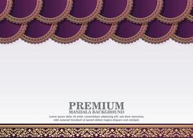 fundo de estilo mandala roxo elegante vetor