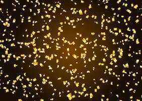 Fundo de confete dourado vetor