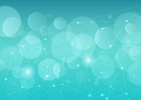 Fundo abstrato com linhas e pontos de conexão vetor