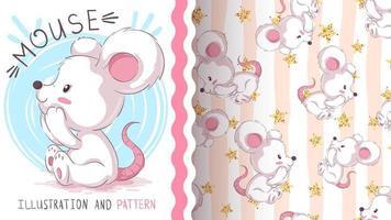 rato animal personagem de desenho animado infantil vetor