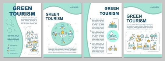 modelo de folheto de turismo verde vetor