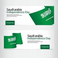 ilustração de design de modelo vetorial para dia da independência da Arábia Saudita vetor