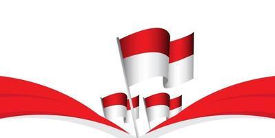 ilustração de design de modelo vetorial dirgahayu kemerdekaan republik indonesia vetor