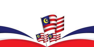ilustração de design de modelo vetorial do dia da independência da Malásia vetor