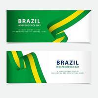 ilustração de design de modelo vetorial feliz dia da independência do brasil vetor