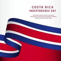 ilustração de design de modelo vetorial feliz dia da independência da costa rica vetor