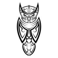 arte de linha preto e branco de coruja. bom uso de símbolo, mascote, ícone, avatar, tatuagem, design de camiseta, logotipo ou qualquer design que você quiser. vetor