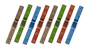 correias coloridas - ilustração vetorial em um fundo branco. vetor