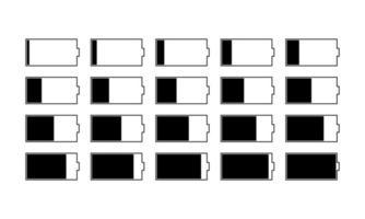 vetor de ícone de carga da bateria. símbolo de ilustração da bateria do indicador. logotipo do acumulador.