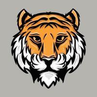 ilustração vetorial cabeça de tigre vetor
