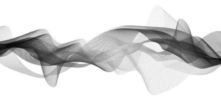 fundo preto clássico de onda sonora digital ou onda de terremoto vetor