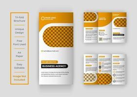 design criativo de brochura com três dobras vetor