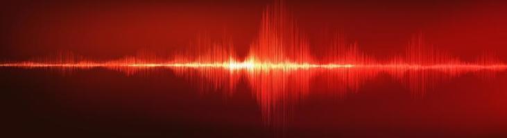 fundo de onda de som digital vermelho escuro vetor