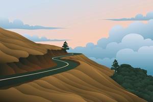 estrada acima do céu vetor