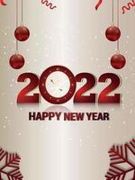 panfleto de festa de feliz ano novo com fundo criativo vetor