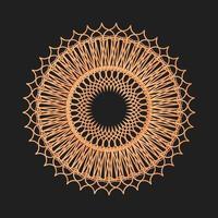 círculo geométrico ornamento gráfico vetorial cor dourada vetor