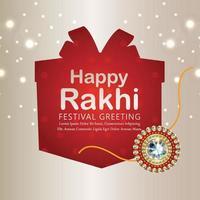 cartão comemorativo feliz raksha bandhan vetor