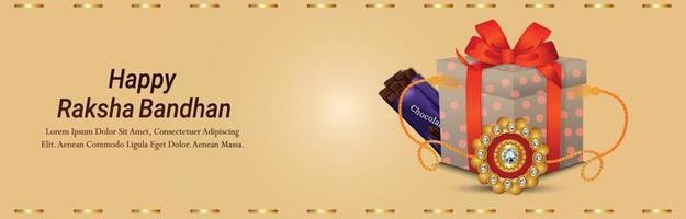ilustração em vetor criativo de cartão de convite feliz raksha bandhan